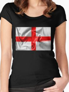 English St Georges Cross Flag Women's Fitted Scoop T-Shirt