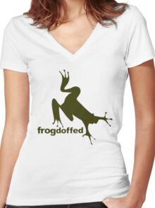 froG! Women's Fitted V-Neck T-Shirt