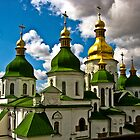 Domes of Saint Sophia Cathedral  by LudaNayvelt