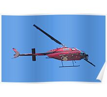 arial surveillance & audio warning helicopter Poster
