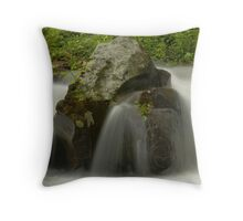 Water Movement, Raging Stream  Throw Pillow