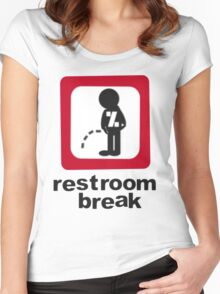 give ur self some break... Women's Fitted Scoop T-Shirt