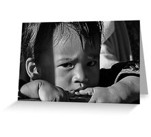 refugee child. north india Greeting Card