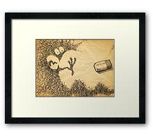 doodling Framed Print