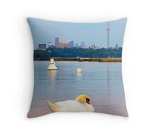 Toronto Swan Song Throw Pillow