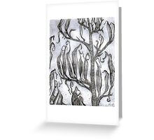 Etching : Flax Pods Gothic Greeting Card