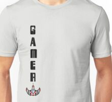 8 Bit Space Ship Gamer. Unisex T-Shirt