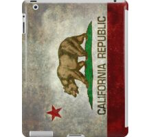 California Republic state flag - Vintage retro version iPad Case/Skin