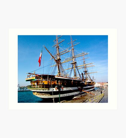 tall ship. venice, italy Art Print