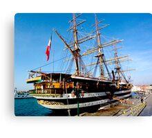 tall ship. venice, italy Canvas Print