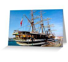 tall ship. venice, italy Greeting Card