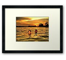 Mekong sunset Framed Print