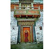 buddhist monk. labrang, north sikkim Photographic Print