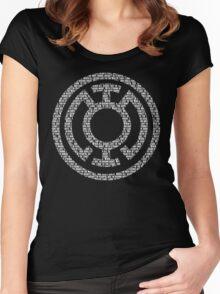 Blue Lantern Oath (White) Women's Fitted Scoop T-Shirt