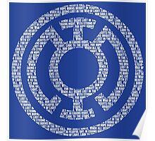 Blue Lantern Oath (White) Poster
