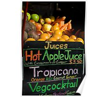 Juice Stall Poster
