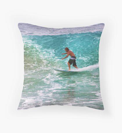 -Tell the teacher were surfin- Throw Pillow