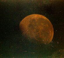 grungy orange moon  by Juilee  Pryor