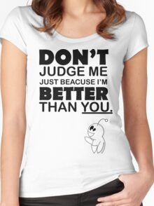 Dont Judge Me Women's Fitted Scoop T-Shirt