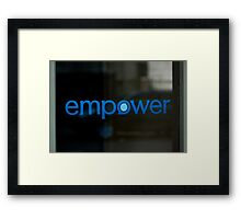 Empower  -  A World of Words Framed Print