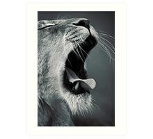 Yawn... Art Print