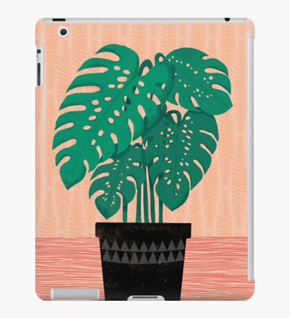 Cheese Plant - Trendy Hipster art for dorm decor, home decor, ferns, foliage, plants iPad Case/Skin