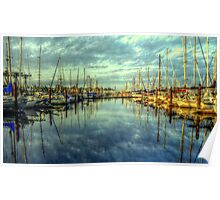 Waiting for the Regatta #2 ~ HDR Series ~ Port Townsend, Washington Poster
