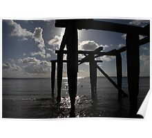Silhouetted Pier Poster