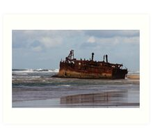 Maheno Wreck Art Print