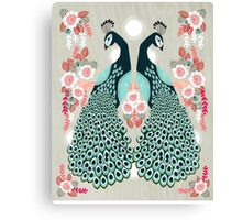 Peacocks by Andrea Lauren  Canvas Print