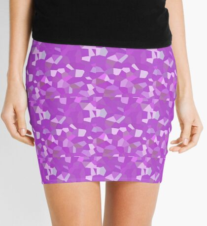 neonflash abstract art fabrics Mini Skirt