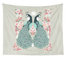 Peacocks by Andrea Lauren  Wall Tapestry