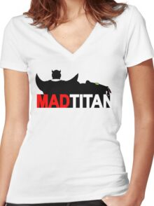 Mad Titan - Gem Color Variant  Women's Fitted V-Neck T-Shirt