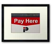 Pay Here   -   A World of Words Framed Print
