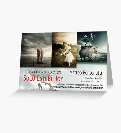 Matteo Pontonutti, Solo Exhibition Banner Greeting Card