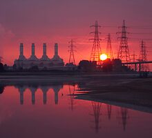 Industrial Sunset by Ann-Marie Metcalfe