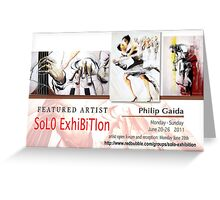 Philip Gaida, Solo Exhibition Banner Greeting Card