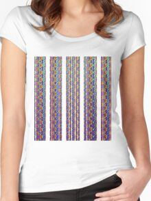 Psychic Stripes Women's Fitted Scoop T-Shirt