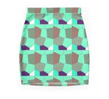 neonflash abstract art pattern fabrics Mini Skirt