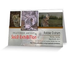 Robbie Graham, Solo Exhibition Banner Greeting Card