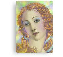 'Beautiful' Face #1, Three Faces of a Modern Day American Venus Canvas Print