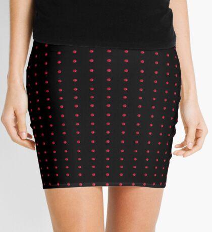 neonflash abstract art pattern fabrics push button Mini Skirt