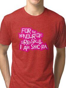 For the Honour of Greyskull Tri-blend T-Shirt