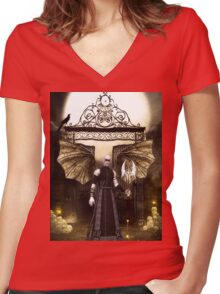Vampir, Lord of the Night Women's Fitted V-Neck T-Shirt