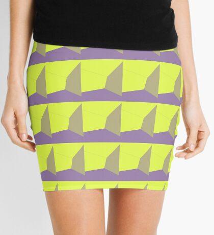 neonflash abstract art fabrics 3D Mini Skirt