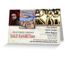 Adam Bogusz, Ray Jackson, Bareri Images, Group banner, Solo Exhibition Greeting Card