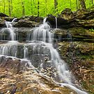 Small Indiana Waterfall by Kenneth Keifer