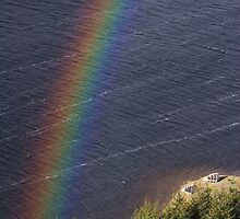 St Mary's Loch Rainbow by Richard Hanley www.scotland-postcards.com