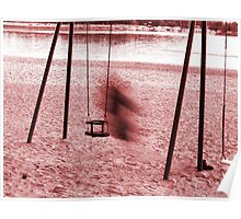 On a swing in motion blur Poster