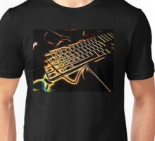 neonflash art fabrics HERE ARE THE KEYS Unisex T-Shirt